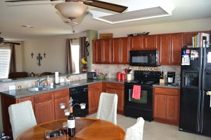 open kitchen in burleson rental home